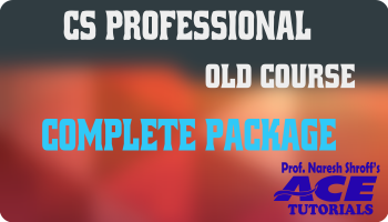 Professional Complete Package  - Paper 1,2,3,4,5,6,7,8 Only ( Old Course)_Ace